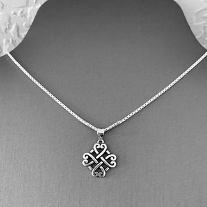 ❤️❤️NEW❤️❤️ Silver Quadruple Celtic Necklace